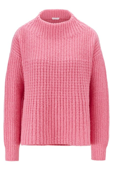 Relaxed-fit sweater in a wool blend, light pink