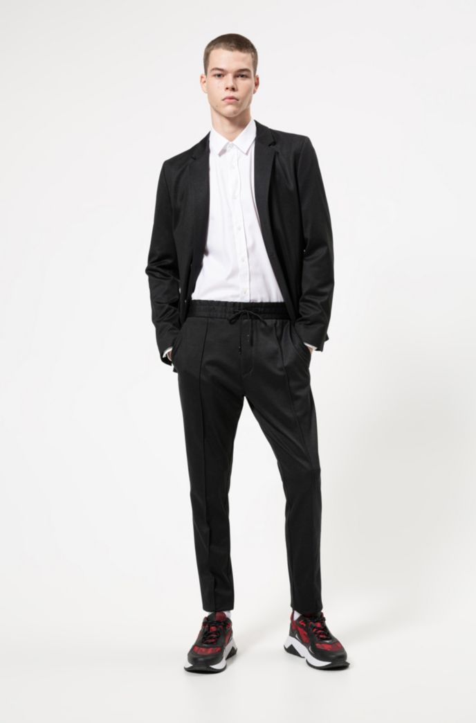 Extra-slim-fit shirt in easy-iron Oxford cotton