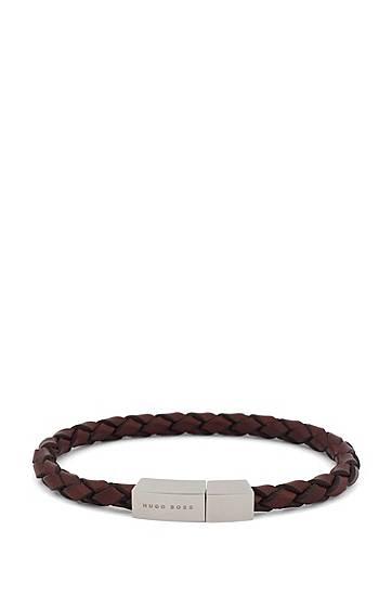 Bracelet en cuir tressé avec fermoir magnétique...
