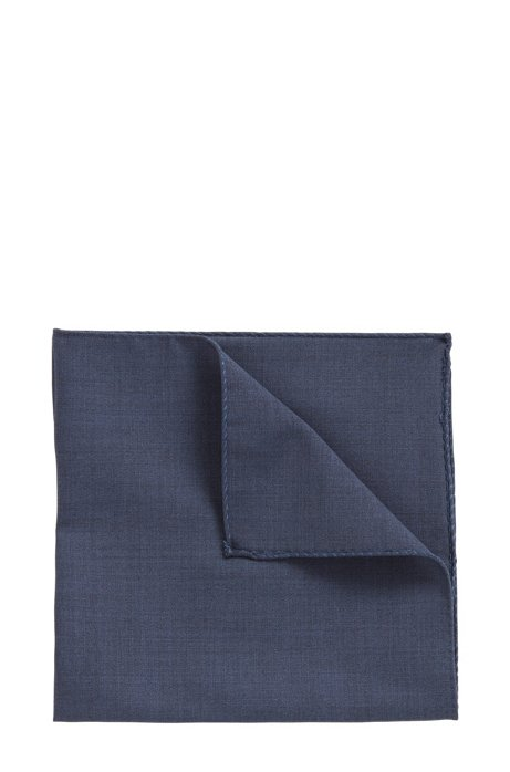 Pocket square in traceable Merino wool, Anthracite