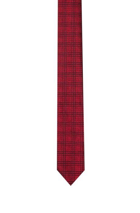 Cravatta a quadri geometrici in seta jacquard, A disegni