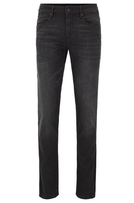 Extra Slim-Fit Jeans aus Stretch-Baumwolle, Schwarz