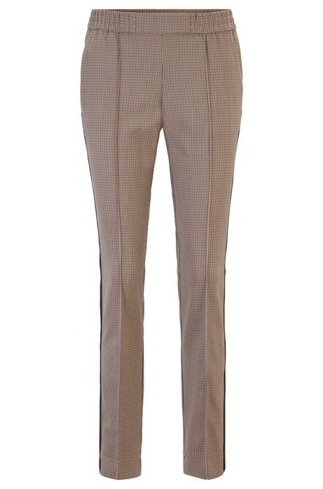 Relaxed-fit jogging-inspired trousers with side stripes, Patterned