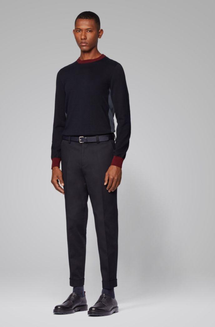 Kortere relaxed-fit broek van stretchkatoen