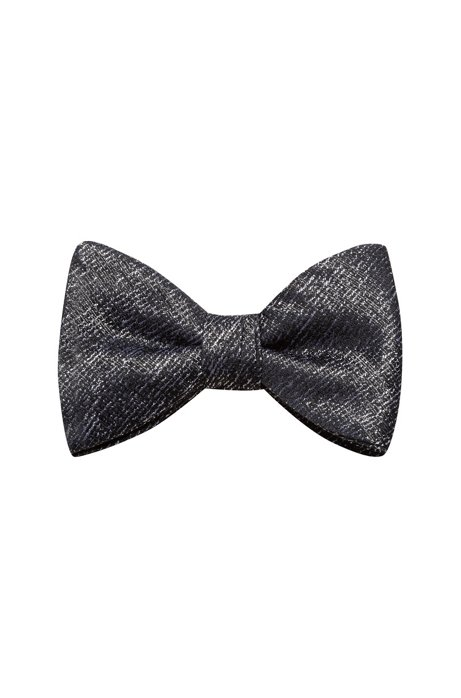 Bow tie in two-tone structured jacquard, Patterned
