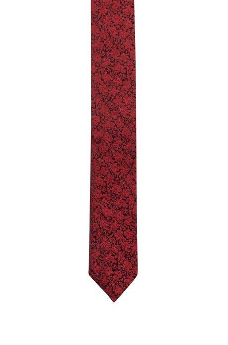 Jacquard-Krawatte aus Seiden-Mix mit Blumenmuster, Gemustert