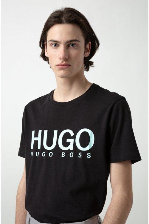 Hugo Boss - Camiseta con logo en punto sencillo de algodón - 3