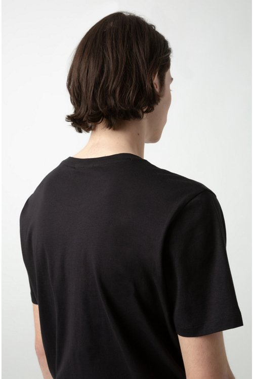 Hugo Boss - Camiseta con logo en punto sencillo de algodón - 4