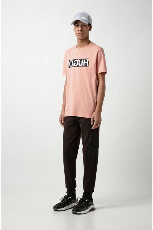 Hugo Boss - Camiseta con logo invertido en punto de algodón - 2