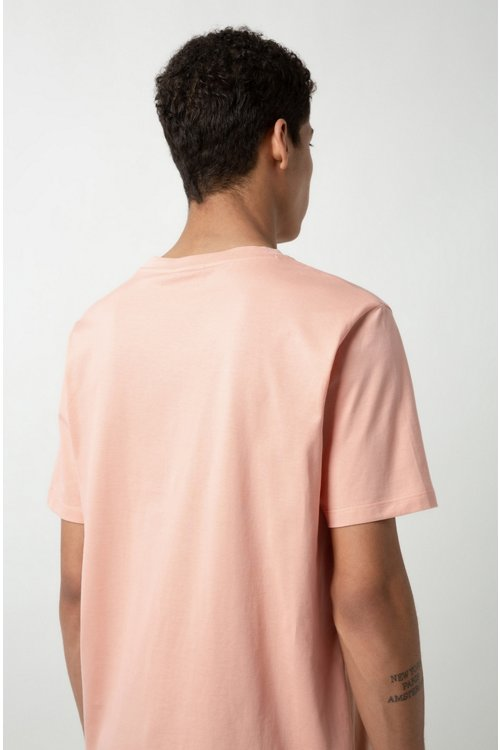 Hugo Boss - Camiseta con logo invertido en punto de algodón - 4