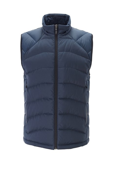 Link² quilted gilet with reflective details, Dark Blue