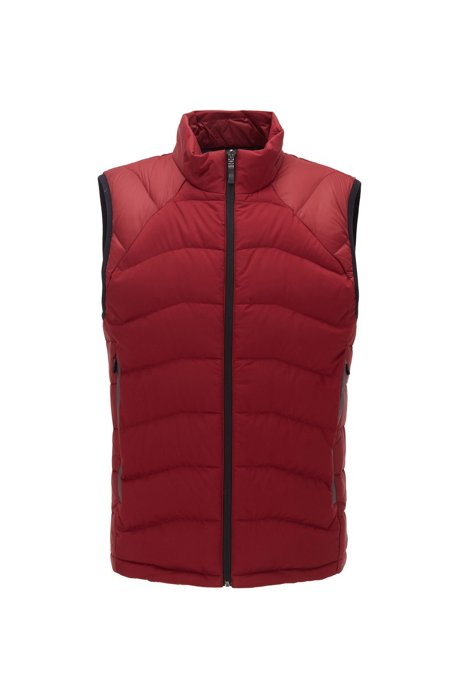 Link² quilted gilet with reflective details, Red