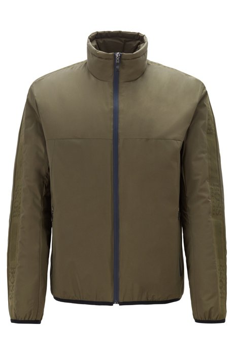 Link² water-repellent jacket with logo tape, Dark Green