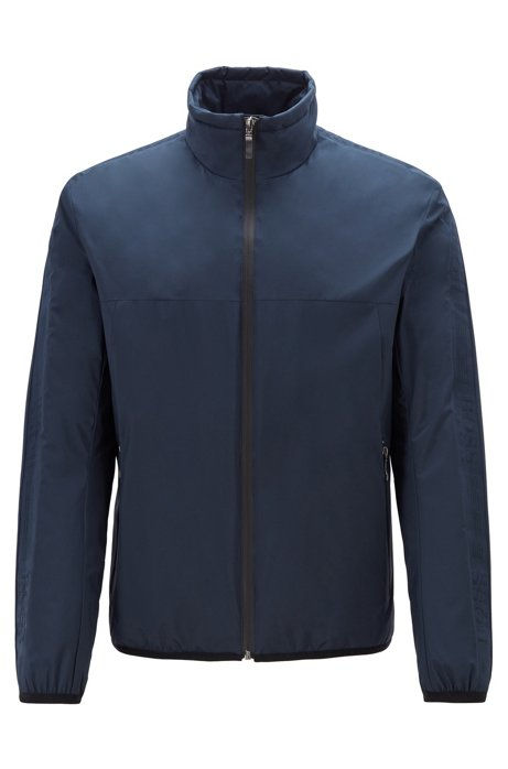 Link² water-repellent jacket with logo tape, Dark Blue