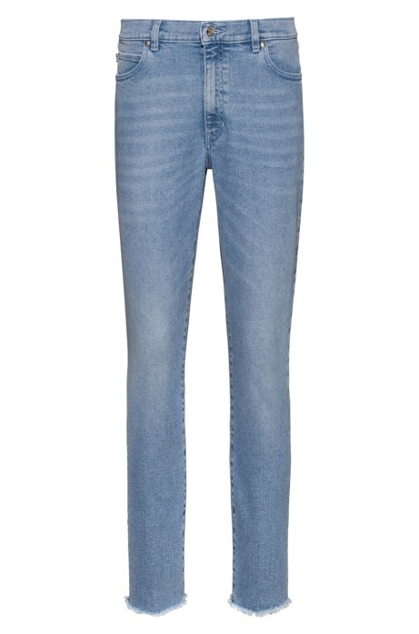 STELLA Slim-Fit Jeans aus bequemem Stretch-Denim in Cropped-Länge, Blau