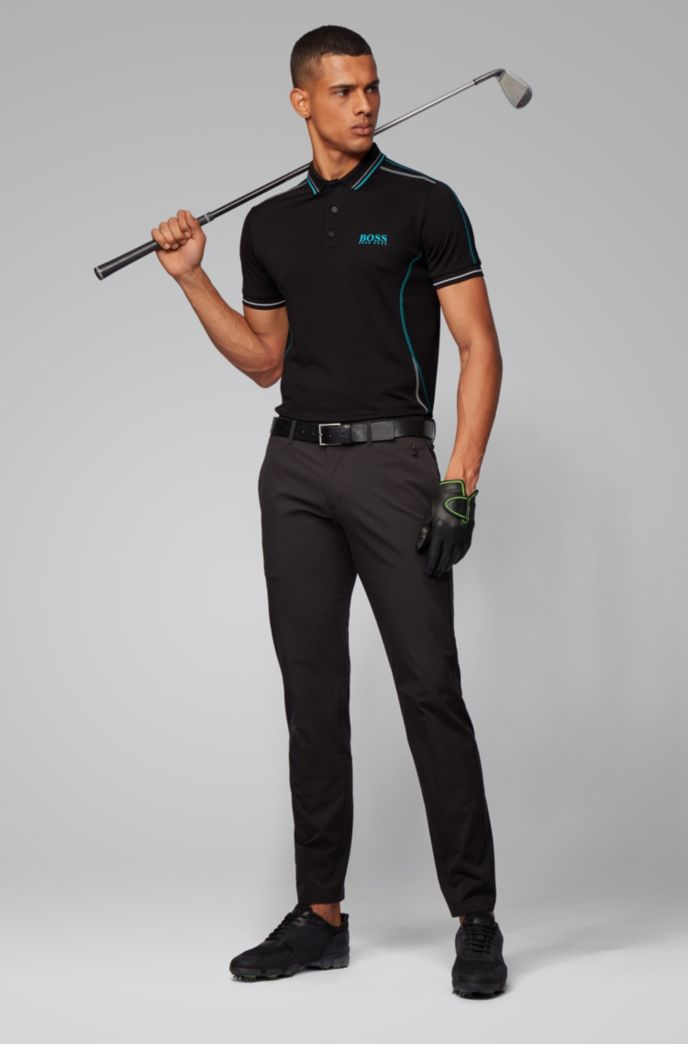 Slim-fit polo shirt with contrast stitching
