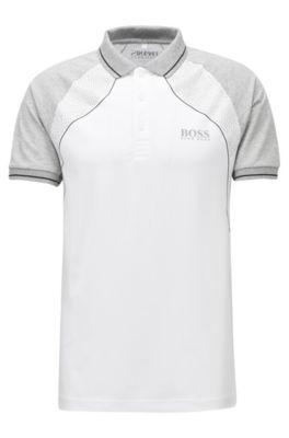 Poloshirt aus elastischem Baumwoll-Mix mit S.Café®-Fasern, Weiß