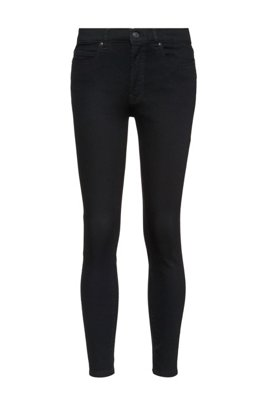 CHARLIE Super Skinny-Fit Jeans aus Magic-Flex-Denim, Schwarz