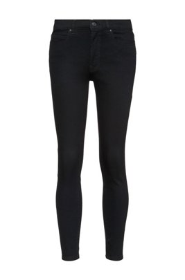 CHARLIE super skinny-fit jeans van zwart magic-flex denim, Zwart