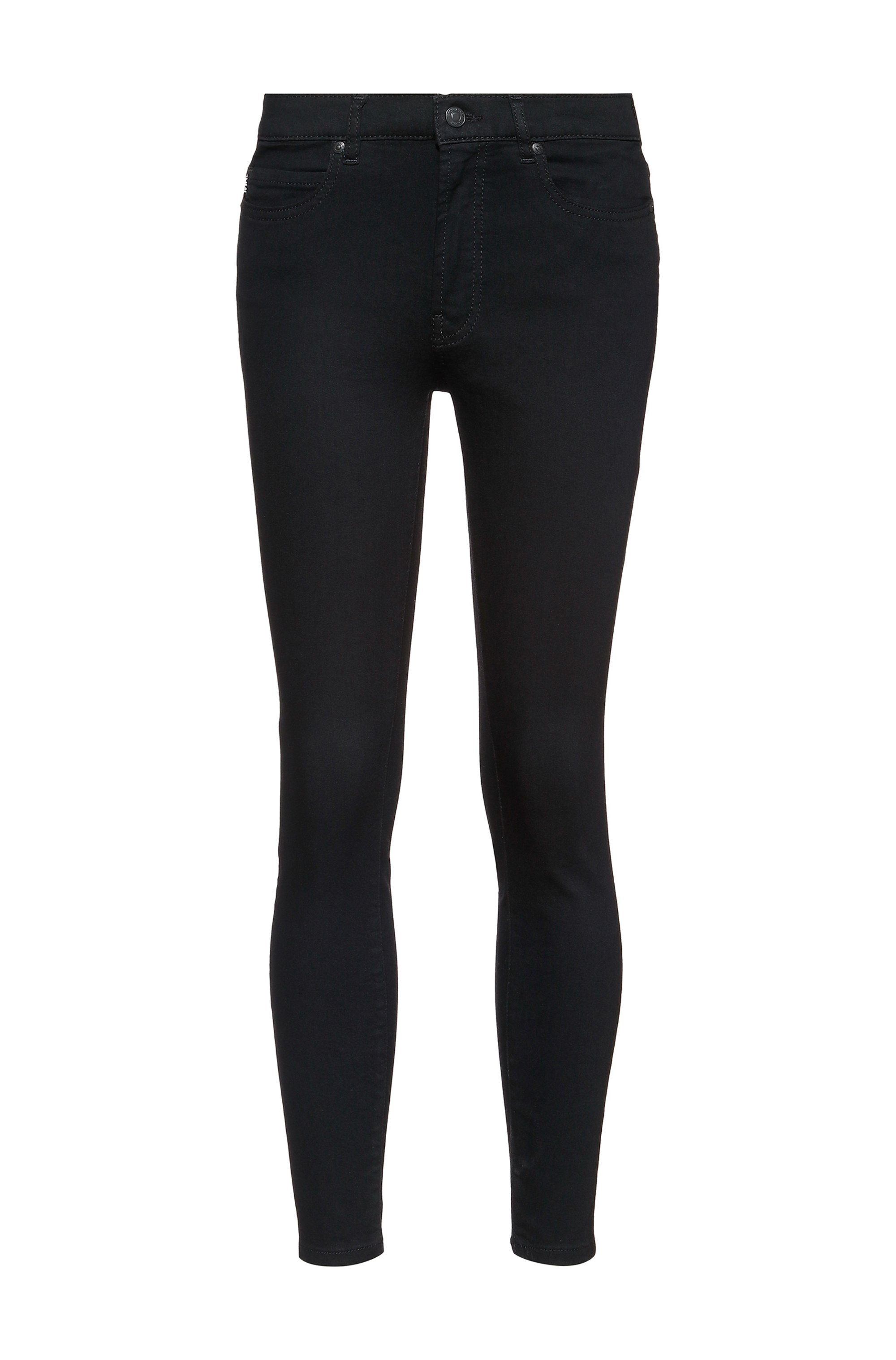 Jeans super skinny fit CHARLIE in denim nero Magic Flex, Nero