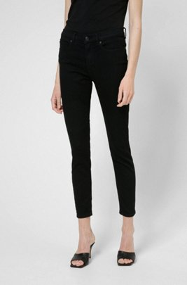 CHARLIE super-skinny-fit jeans in black magic-flex denim, Black