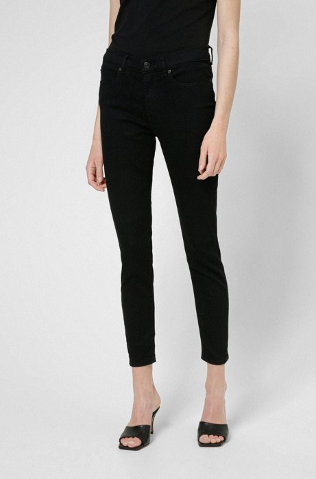 Vaqueros super skinny fit CHARLIE en denim negro Magic Flex, Negro