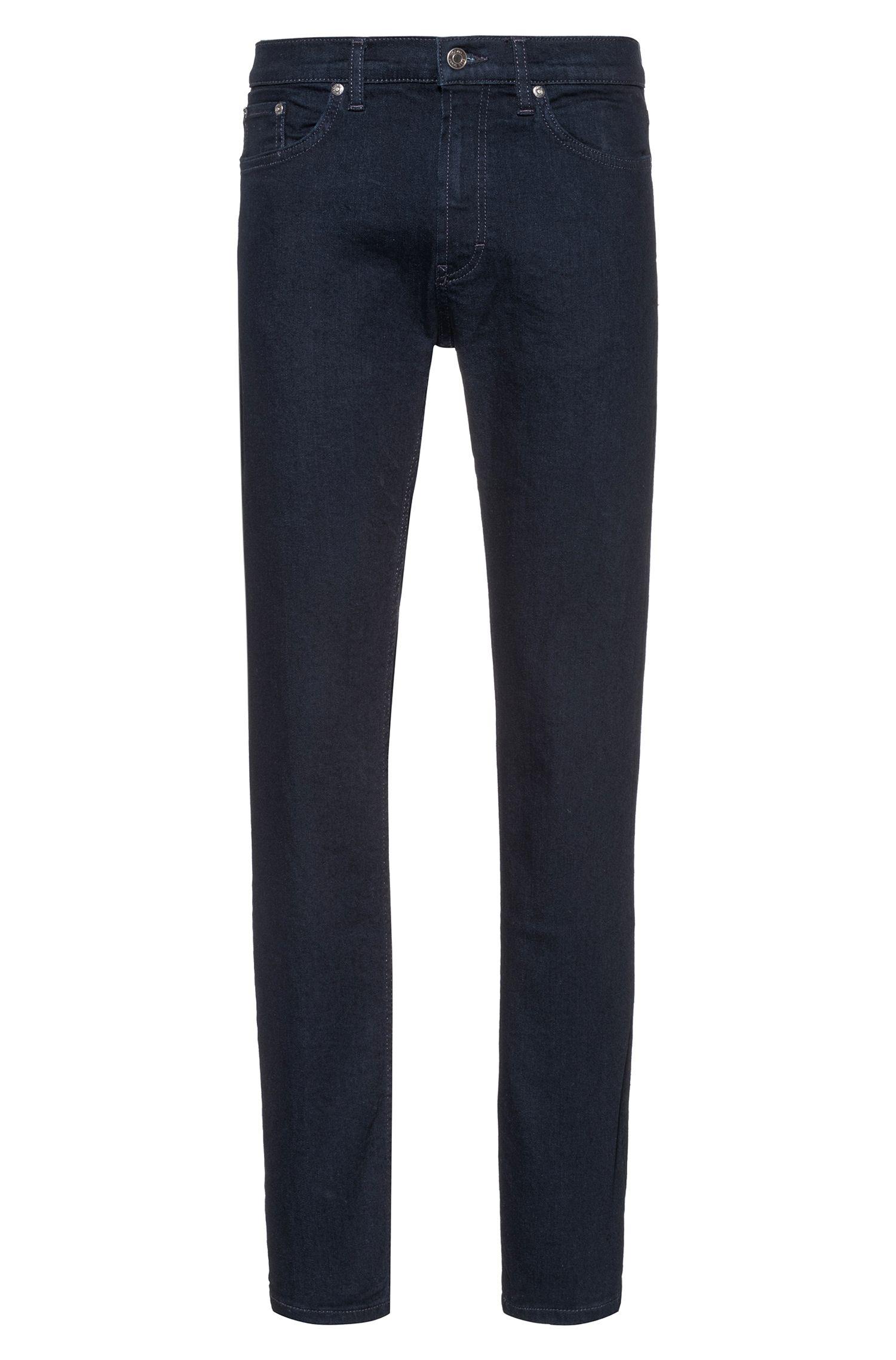 Jeans regular fit in denim elasticizzato, Blu scuro