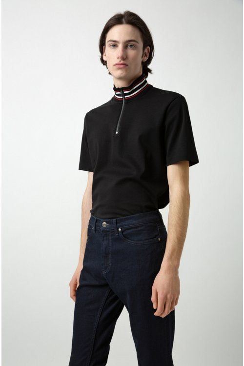 Hugo Boss - Regular-fit jeans in stretch denim - 4