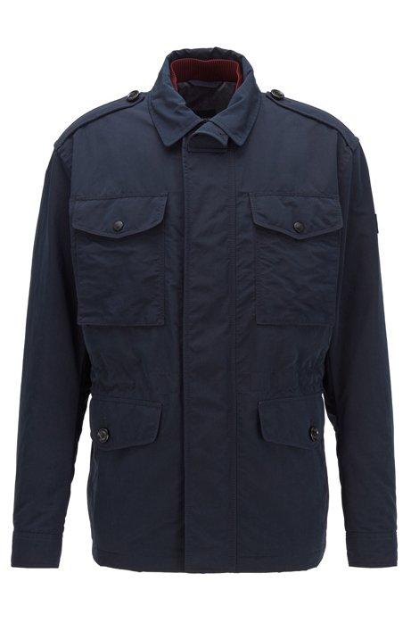 Waterafstotend fieldjacket met lichte vulling, Donkerblauw