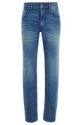 Jean Relaxed Fit en denim bleu clair stretch confortable, Bleu