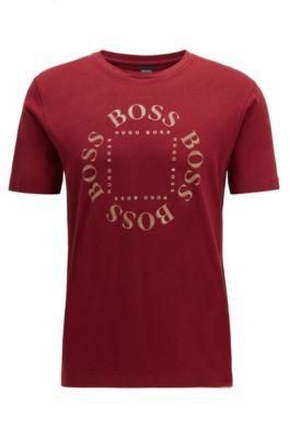 T-shirt en jersey de coton avec logo de la nouvelle saison, Rouge