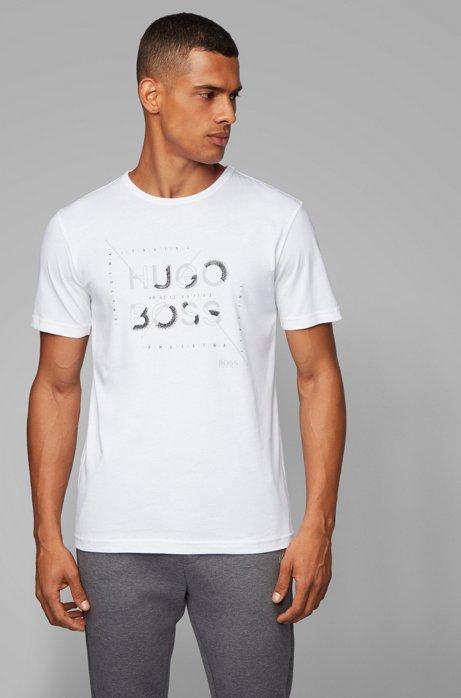 T-shirt regular fit con motivo grafico della nuova stagione, Bianco