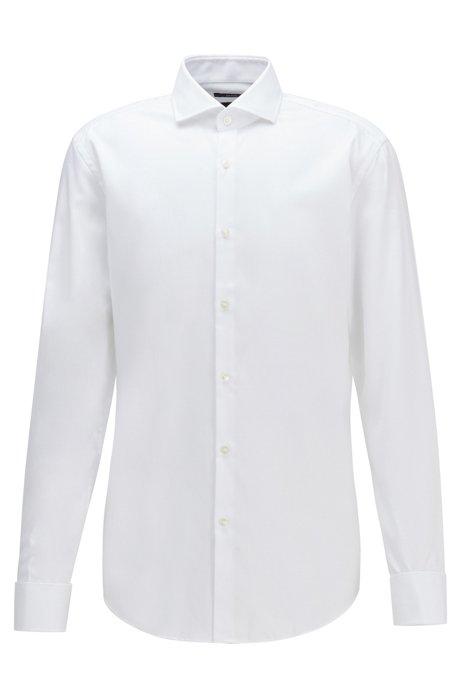 Chemise Slim Fit en coton facile à repasser, Blanc