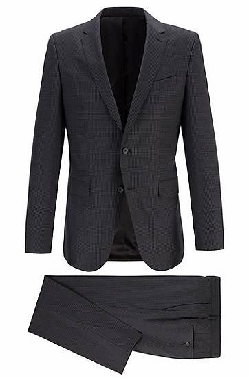 boss  Costume Slim Fit à motif en laine mérinos à la traçabilité garantie... par LeGuide.com Publicité