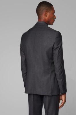 feinste Stoffe wie man kauft Top Design Gemusterter Slim-Fit Anzug aus nachverfolgbarer Merinowolle