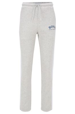 Slim-fit jogging trousers in double-faced fabric, Light Grey