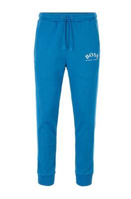 Pantalones de chándal slim fit con logo curvado, Azul