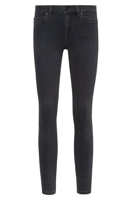 Jean CHARLIE Super Skinny Fit en denim gris Magic Flex, Gris sombre