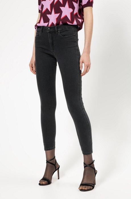 CHARLIE super-skinny-fit jeans in magic-flex grey denim, Dark Grey