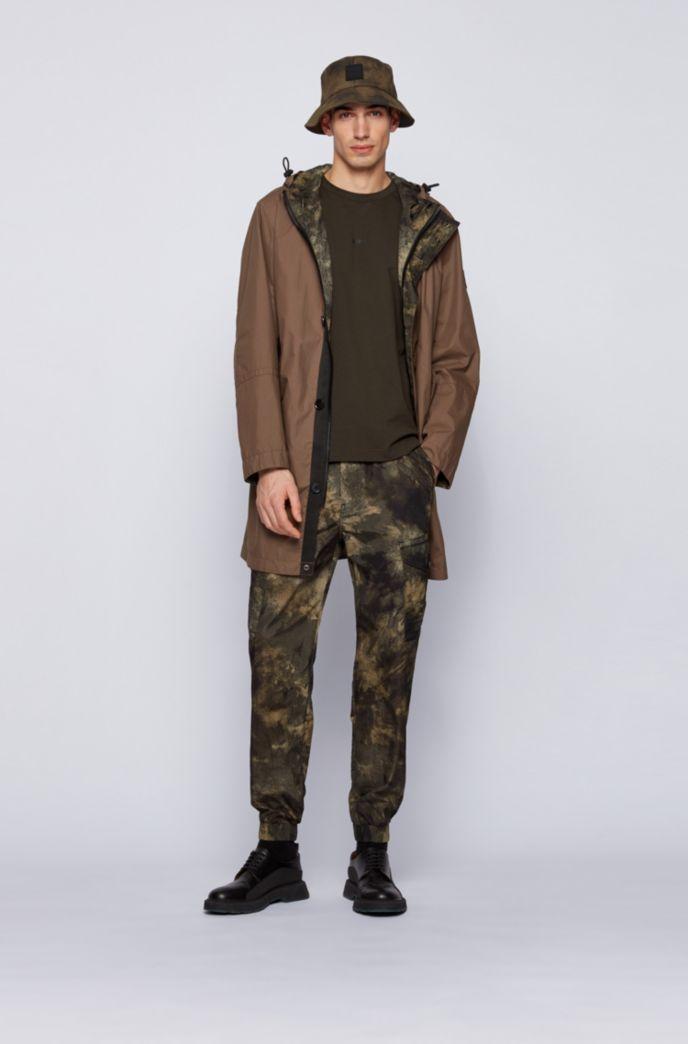 リラックスフィット Tシャツ ストレッチコットン 多層ロゴ