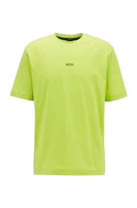 リラックスフィット Tシャツ ストレッチコットン 多層ロゴ, イエロー