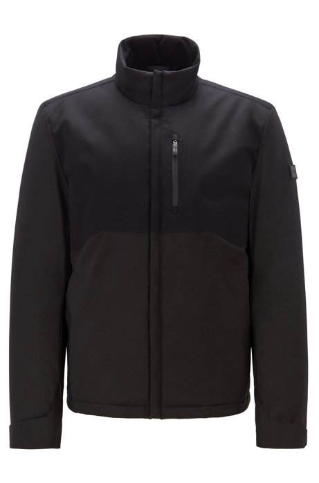 Link² water-repellent jacket with signature quilting, Black