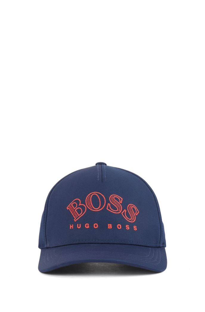 Double-twill cap with curved logo embroidery