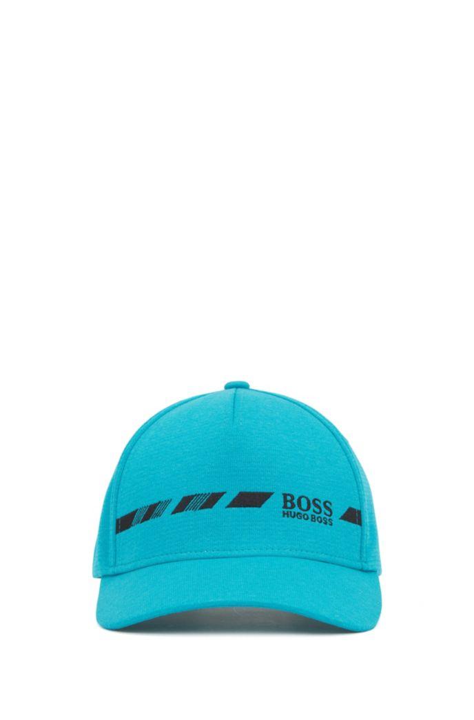 Melierte Cap mit Logo, kontrastfarbener Stickerei und S.Café®-Fasern