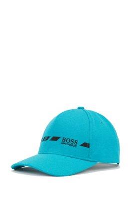 Gorra de S.Café® con logo jaspeado y bordado en contraste, Azul