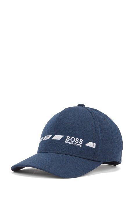 Gorra de S.Café® con logo jaspeado y bordado en contraste, Azul oscuro