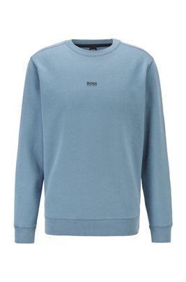 Relaxed-fit sweatshirt in cotton-blend terry, Dark Grey