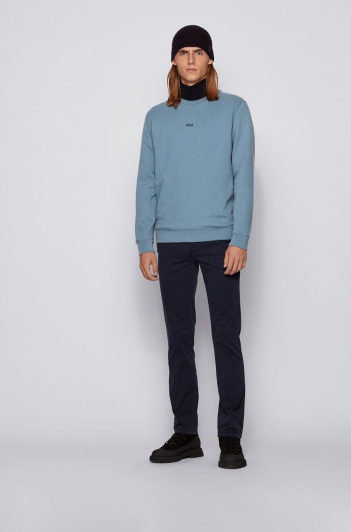 Relaxed-fit sweatshirt in cotton-blend terry