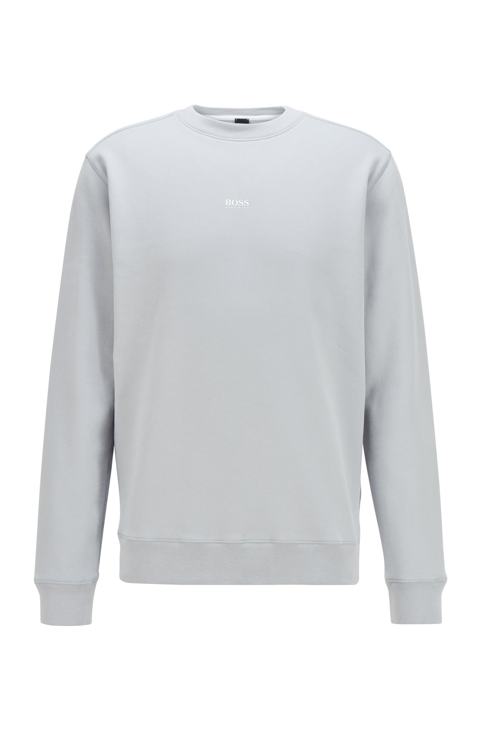 Relaxed-fit sweatshirt in cotton-blend terry, Light Grey