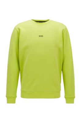 Sweat Relaxed Fit en molleton de coton mélangé, Jaune